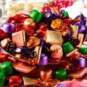 たっぷり1kg!8種の味が楽しめる本格ベルギーチョコレート